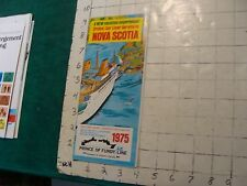 HIGH GRADE Vintage brochure: NOVA SCOTIA new vacation experience 1975--16pgs