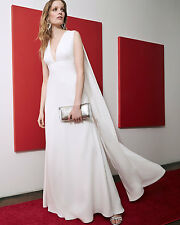 NWT $325 Jill Jill Stuart Sleeveless V-Neck Cape Gown in Off White - Size 4!