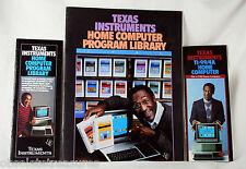 Bill Cosby TI 99/4A Texas Instruments Computer Program Brochures Vintage 80s
