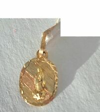 14 K Virgen Guadalupe Medal Yellow White and Rose Gold 2 cm Long New