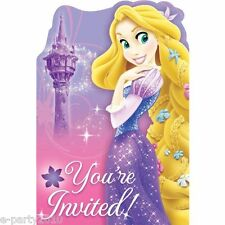 TANGLED Sparkle INVITATIONS (8) ~ Princess Birthday Party Supplies Stationery