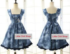 Japan Trendy Kawaii Princess Cute Sweet Dolly Gothic Lolita Sleeveless Dress
