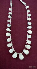 vintage moonstone faceted drop beads necklace strand moon gemstones