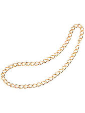 "Gangster RAPPER'S 24 ""Heavy Duty catena d'oro Taglia Unica Da Uomo Accessorio Costume"