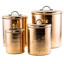 Canisters Sets For The Kitchen Counter Copper 4 Piece Hammered Sugar Storage