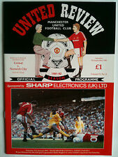 MINT 1991/92 Manchester United v Norwich City 1st Division with Token
