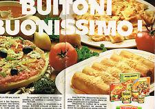 PUBLICITE ADVERTISING 064  1980  BUITONI  plats préparés  (2 pages)