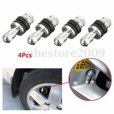 4Pcs Tire Valve Stem 502 Chrome Metal Bolt In High Pressure Flush Mount Rear