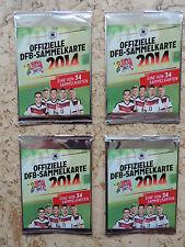 REWE DFB Sammelkarten Bilder 2014,4x ungeöff,NEU,Fußball,sammeln,Kinder,Geschenk