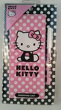 Hello Kitty fridge magnet shopping list pad and pen