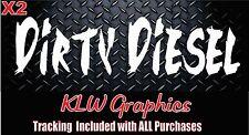 Dirty Diesel * vinyl decal sticker Diesel Turbo TRUCK  Stacks 2500 3500 window