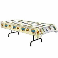 Superhero Plastic Tablecover Carnival Circus Comic  Party