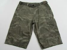Roebuck Co Messenger Shorts Mens Size 36 nwt Camouflage Canvas Belt