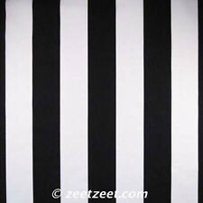 Michael Miller TWO BY TWO STRIPE Black & White Cotton Quilt Fabric by the Yard
