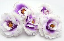 5X Purple White Artificial flowers Carnations Party Wedding Decoration Dia 7.5cm