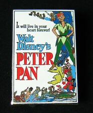RARE VHTF Disney Shopping Pin Peter Pan Movie Poster LE 250