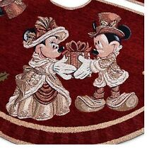 Disney Christmas Holiday Tree Skirt - Victorian Mickey and Minnie NEW WITH CARD