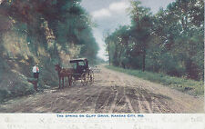 The Spring on Cliff Drive KANSAS CITY Missouri USA 1901-07 Postcard