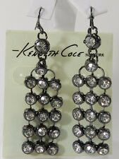 KENNETH COLE NEW YORK Crystal Faceted Stone Chandelier Drop Earrings