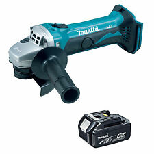 MAKITA 18V LXT DGA452 DGA452Z DGA452RFE ANGLE GRINDER AND BL1840 BATTERY