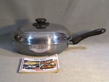 "Fissler Stainless SS Crispy Frying Pan With Vent West Germany 11 3/4"" + Cookbook"
