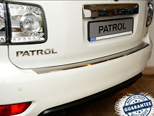 NISSAN PATROL Y62 2010- Rear Bumper Profiled Protector Stainless Steel Cover