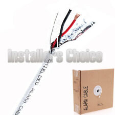 Security Cable Burglar Alarm 18/2 Shielded 500FT Stranded White Speaker Wire
