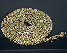 10K Yellow Gold Men's Palm Chain 28 Inches 3mm A9B0 Franco, Rope, Cuben