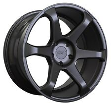XXR 556 18x8 Rims 5x114.3mm +42 Black Wheels Fits Tuburon Mazda 3 Eclipse Rx8