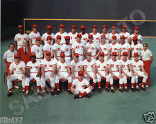 1975 CINCINNATI REDS BIG RED MACHINE WORLD SERIES CHAMPIONS 8X10 TEAM PHOTO
