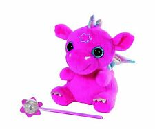 New Zapf Creation Baby Born Baby Pink Dragon With Wand Soft Plush Toy