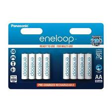 8 Pack Panasonic Eneloop 1900mAh AA Rechargeable Batteries NiMh Ready to Use NEW