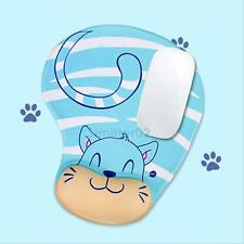 Cat Comfort Wrist Support Mouse Mat Mice Pad Computer PC Laptop Soft Gel Rest