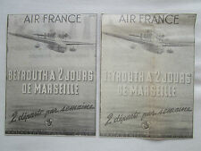 10/1938 PUB COMPAGNIE AIR FRANCE AIRLINE BEYROUTH LIBAN LEBANON ORIGINAL AD