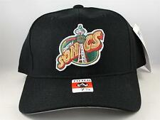 NBA Seattle Supersonics Vintage American Needle Fitted Hat Cap Size 7 1/4 Black