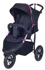 KNORR BABY BUGGY Joggy S Nero Rosa herredomme copertura 3-rad - TROLLEY nuovo 883002