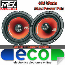 Vauxhall Corsa D 06-14 MTX 16cm 6.5 Inch 480 Watts 2 Way Front Door Car Speakers