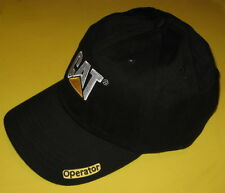 New Black/White/Yellow CAT BaseBall Cap Caterpillar Logo Dozer Operator's Hat