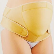 Cream Pregnancy Maternity Abdominal & Back Support Strap Belt Belly Band Pad