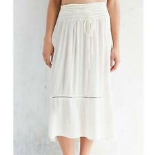 NWT XS Kimchi Blue Cream Midi Skirt Nasty Gal Boho Hippy Hippie Sexy Hot Cute
