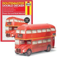 Haynes Manual Construction Press Out Book Routemaster Red Double Decker Bus Gift
