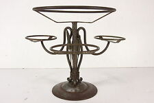 Wrought Iron Plant Stand Base Holder Fern Flower Garden Decor Wheat Motif
