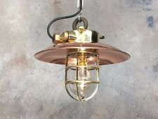 Vintage Industrial light - Brass Explosion Proof Pendant Copper Shade