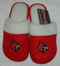 WOMENS Slippers COLLEGIATE FOOTWEAR Red CARDINALS Bird XL 11-12 PLUSH  Open Back