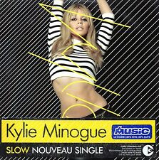 ★☆★ CD SINGLE Kylie MINOGUE Slow 2-track CARD SLEEVE - French Yellow Sticker ★☆★