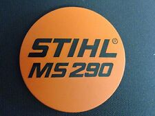 STIHL MS 290 Chainsaw Badge Replacement Plastic OEM Never used NOT A STICKER