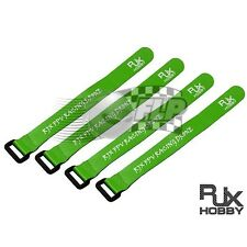RJX NonSlip Silicone Velcro Battery Straps Green 200X20mmx4pcs RJX1142