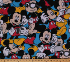 Mickey and Accessories Mickey Mouse Blue Kids Fleece Fabric By the Yard A327.05