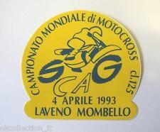 VECCHIO ADESIVO MOTO / Old Sticker MONDIALE MOTOCROSS 1993 (cm 10 x 9,5) LAVENO
