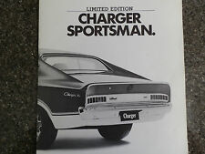 CHRYSLER VALIANT CHARGER 1974 VJ ''SPORTSMAN'' SALES BROCHURE. 100% GUARANTEE.